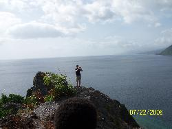 The end of the Island of Dominica - taken in July 06