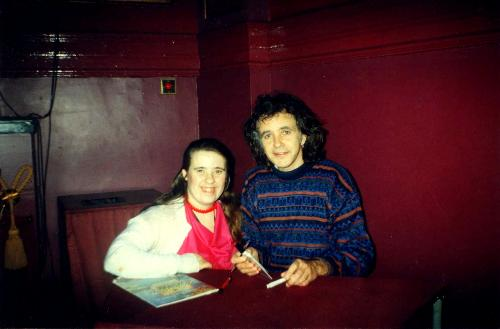 Before the Steroids - Me with singing star David Essex when I was just 24 before the DRs started to pump my body with steroids.