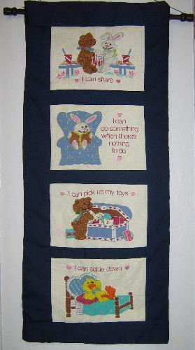 Walling hanging  - This is a picture of a wall hanging that I made for my little niece Jessica.