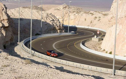 Greatest ROAD in the Middle of the Dessert... that - The total length is about 7.3 miles on the heap of Dessert Sand with Height raning around 4,000 ft above the sea level. The stretch has total number of 60 corners on run.