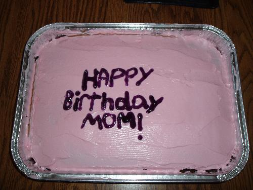 birthday cake - birthday cake with pink frosting