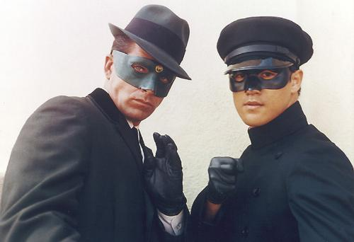 The Green Hornet - Image of The Green Hornet and Kato from the tv show. They were played by Van Williams and Bruce Lee