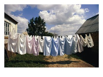 clothes drying on the line - another way to be on line