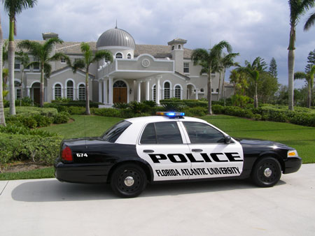 police car - a picture of police car near the house