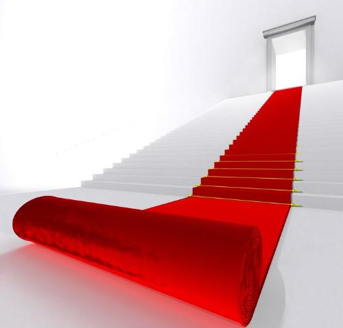 The red carpet!-Welcome! - the red carpet is the way to another world.