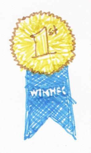 1st prize - Just a little sketch I did of a 1st prize award.