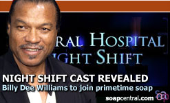Night Shift - Billy Dee Williams is going to be a part of the new show Night Shift, a spin-off of General Hospital.