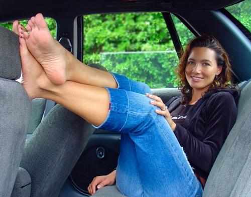 Barefoot in a Car - There's something to be said about driving barefoot.