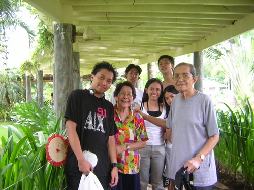 Grandpa's the one with gray shirt  - All of my Grandparents' grandchildren share close relationship with them. :)