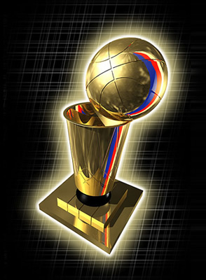 Championship Trophy - The NBA Championship trophy. The Playoffs start off with 16 teams and finish with one champion. Will your team be the last one standing? How far will your team go before its time to pack up and go home? The Championship this year will go to......????? You tell me...