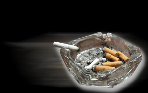 ashtray - smoking with friends