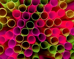 Will you accept a straw from strangers? - A picture of many straws.
