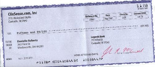 Clixsense Really Pays - My first check from clixsense, and I'm excited