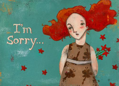 sad face:( - is saying im sorry enough?