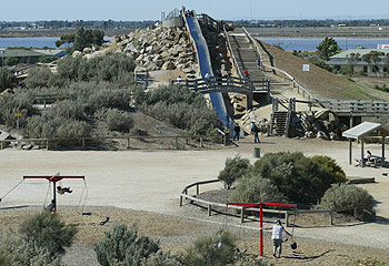 Playground toxicity - This is ST. Kildas playground, which had posionous hebicide spread over the slides