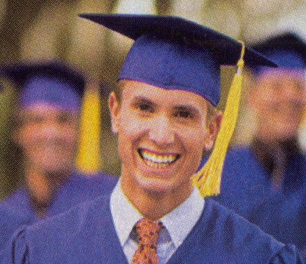 Graduation - A happy hopeful graduate.
