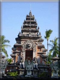 entrance gate - welcome to bali island