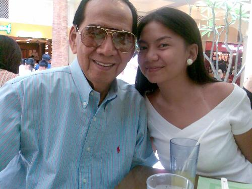 my dad & i - Me and my daddy having lunch at Rockwell.