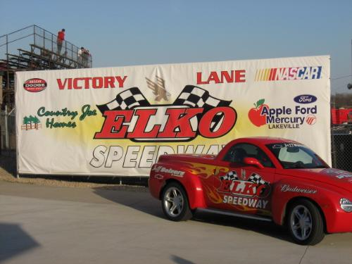 The Pace Car - This is Elko's pace car.