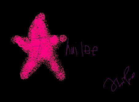 star username - The star star drawn by me besides the username..
