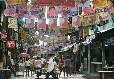 during the 2007 election... - campaign posters are everywhere!!!