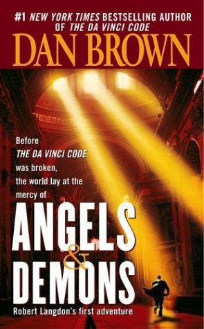 "Angels and Demons - It is the cover of the famous novel ""Angels and Demons"" by Dan Brown. This image is subjected to copyrights."