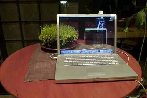 Apple Laptop - New laptop with transparent screen.