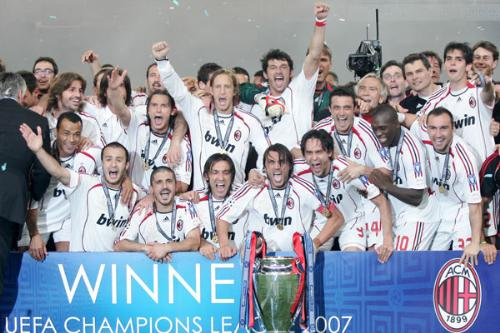 ac milan - the team, after winning Champions League, 2007