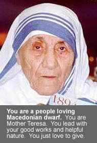 Mother Teresa - my results