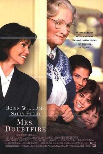 A famous and old comedy movie poster -- Mrs. Doubt - A famous and old comedy movie poster -- Mrs. Doubtfire