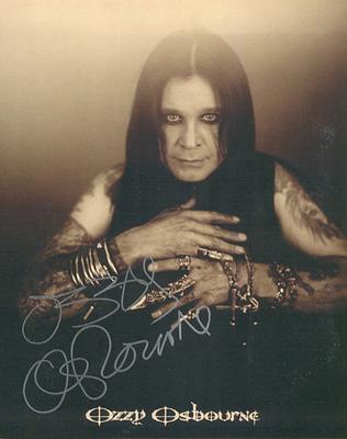 Ozzy's Autograph - Auto-Penned Autographed Photo Of Ozzy Osbourne