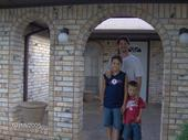 The men of the house - Brent Florence, Brie Florence, and Gaje Florence