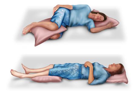 I like the fetus position. - I like the fetus position.