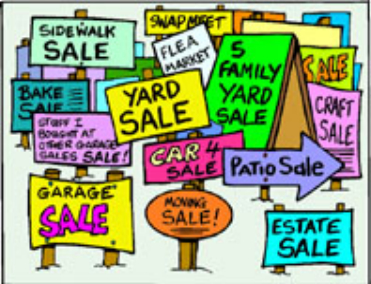 yard sale signs - No matter what you call them, household summer sales are part of society, and they are a lot of fun.