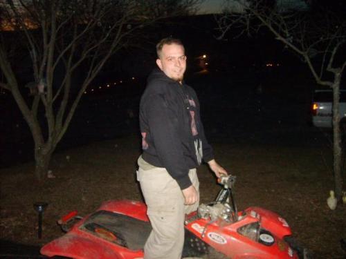 my son on his 4 wheeler - billy on his 4 wheeler