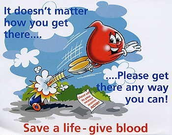 Donate Blood - Save a life- give Blood