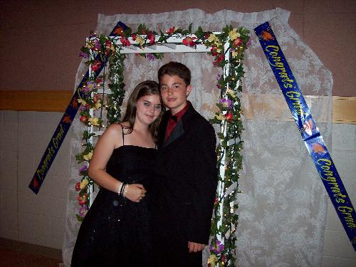 My son and his date don't they look great - Grade 8 grad Kurtis with g/f