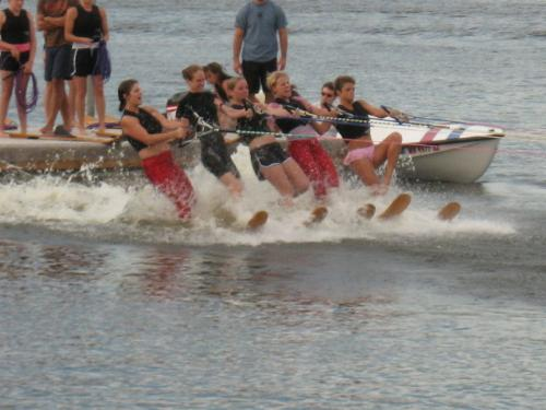 Twin City River Rats -  A non-profit skiing show here in Minneap[olis practicing one evening on the Mississippi River