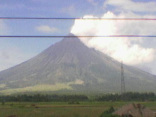 mayon volcano - a closer look to the volcano with a perfect cone