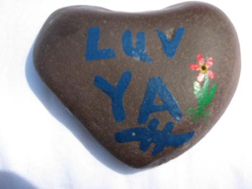 Heart Rock - A rock I found walking the shores of Lake Superior in Duluth area 20 years ago. I painted this and gave it to my wife as a surprise and a show of my never ending love for her.