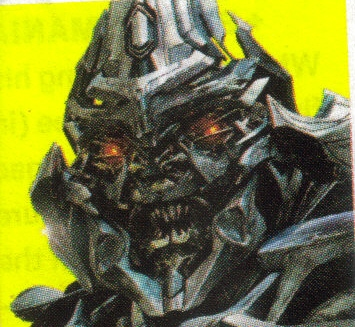 Transformer -  This is a picture of a grusome looking robot from the movie transformer.