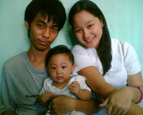 my happy family - my husband baby and i