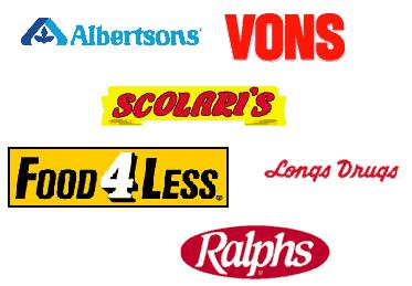 Grocery Stores - Different image logos of grocery stores
