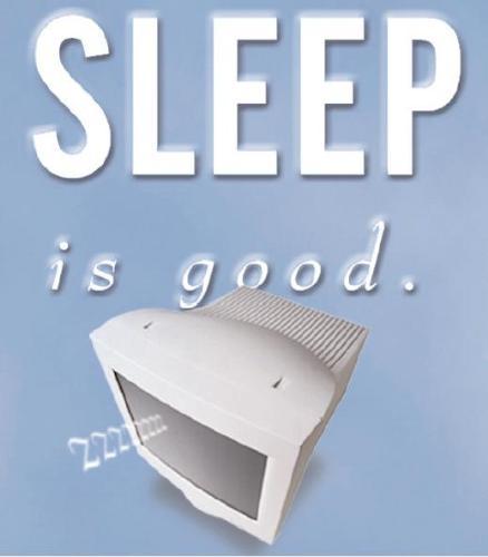 Sleep - I have 7 hours sleep every night.