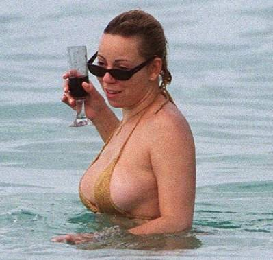 Huge kahoonas - MC and her glass of champagne