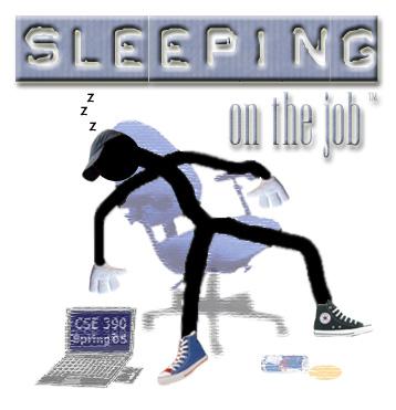 Sleeping on the Job - This guy is sleeping on the job
