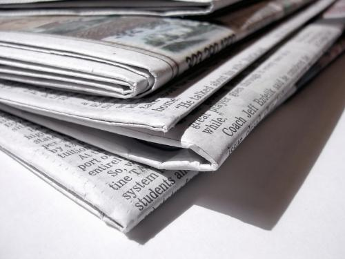 newspaper - the old fashion way to find out about stuff