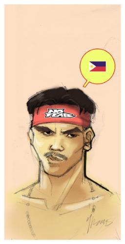 Pacman - Caricature of the pacman.