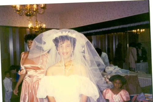 My Sister -  This is a picture of my sister at her wedding.