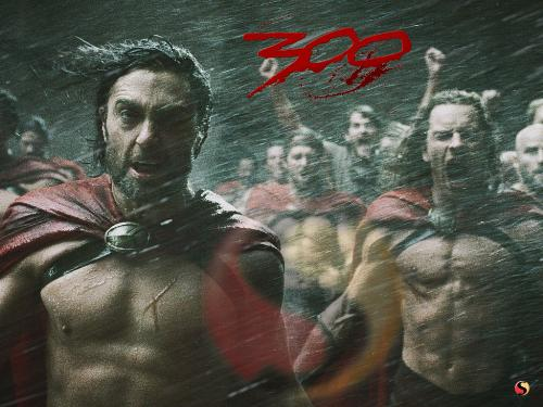 300 - This is when all the soldiers see the persian troops dying in storm